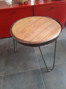 table basse fond de tonneau vin ile de ré