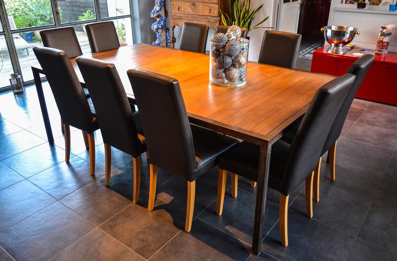 Table Acier et Teck 1
