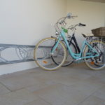 Porte-vélos mural oblique ile de Ré